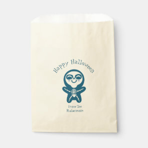 Favour bag for Halloween with skeleton