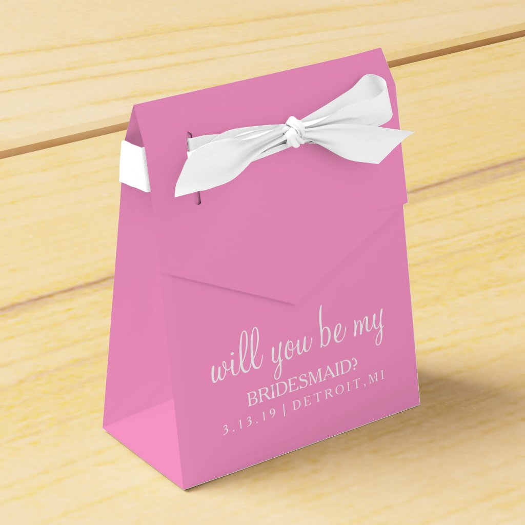 Favour Box - Will you be my bridesmaid
