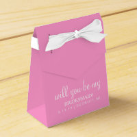 Will you be my bridesmaid Favour Box