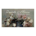 Favour Gift Tags  - Impressionist Cream Pink Roses Pack Of Standard Business Cards