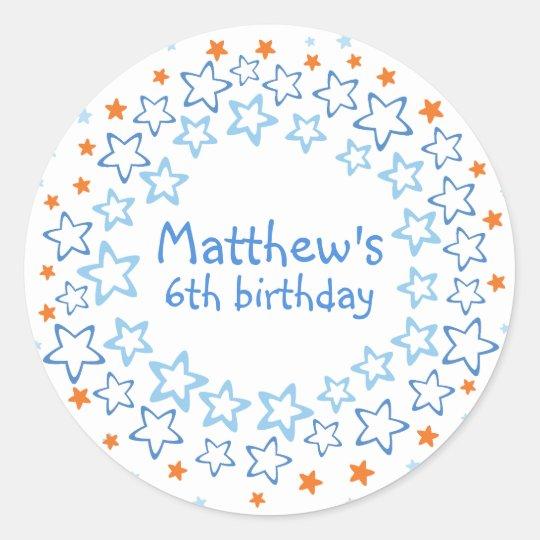 Favour Sticker / Seal Envelope - Matthew birthday
