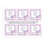 Favour Tags Purple Hydrangea