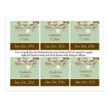 Favour Tags Spring Floral Mason Jars green