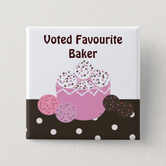 Favourite Baker 15 Cm Square Badge