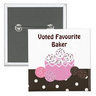 Favourite Baker 15 Cm Square Badge