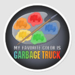 Favourite Colour Is Garbage Truck Sticker