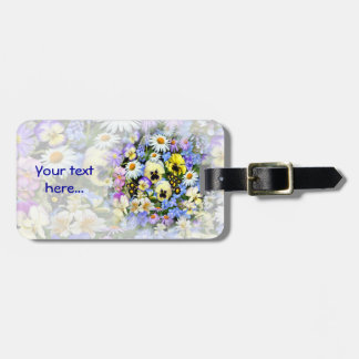 Favourite Flowers Luggage Tag