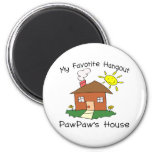 Favourite Hangout PawPaw's House 6 Cm Round Magnet