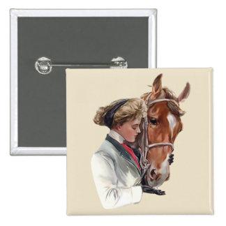 Favourite Horse 15 Cm Square Badge