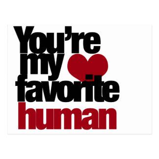 Favourite Human Love Postcard