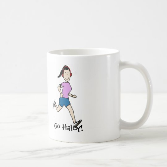 Favourite runner mug- personalised cartoon coffee mug