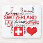 Favourite Swiss Things - I Love Switzerland Mouse Mat