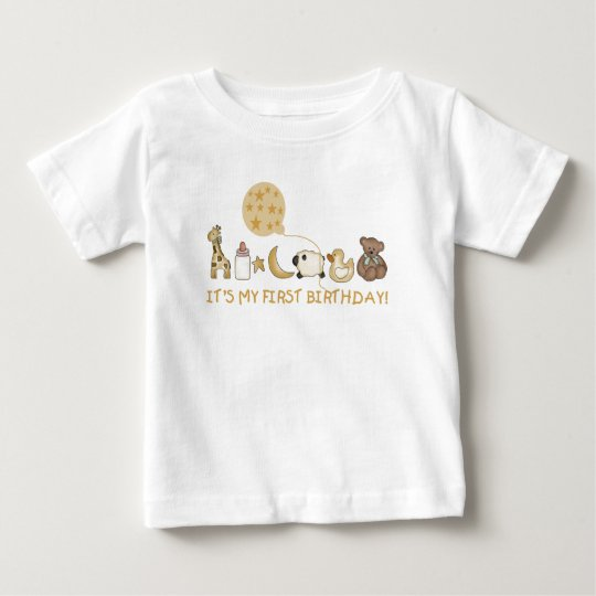 Favourite Things First Birthday Baby T-Shirt