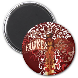 Fawkes Spread Wings 6 Cm Round Magnet