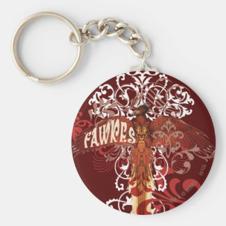 Fawkes Spread Wings Basic Round Button Key Ring