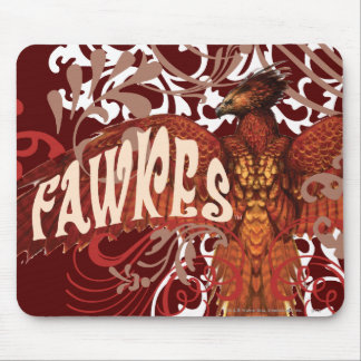 Fawkes Spread Wings Mouse Mat