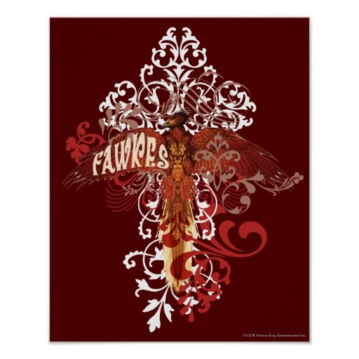 Fawkes Spread Wings Poster