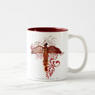 Fawkes Spread Wings Two-Tone Mug
