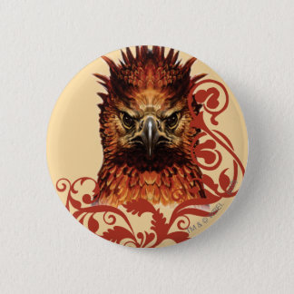 Fawkes Staring 6 Cm Round Badge