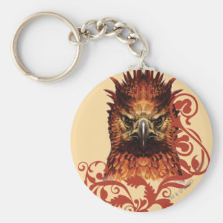 Fawkes Staring Basic Round Button Key Ring