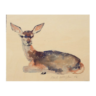 Fawn 2003 wood wall art