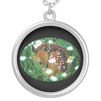 Fawn and Wildflowers Necklaces