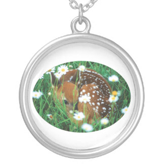 Fawn and Wildflowers Custom Necklace