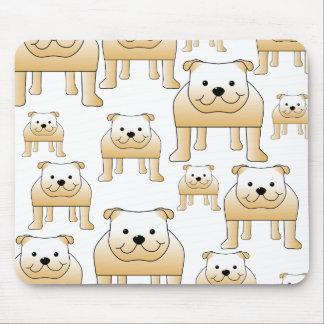 Fawn Bulldogs. Mousepads