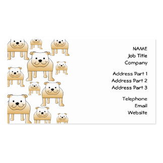 Fawn Bulldogs. Pack Of Standard Business Cards
