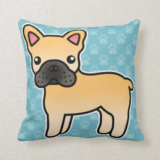 Fawn Cartoon French Bulldog Cushion