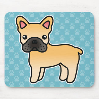 Fawn Cartoon French Bulldog Mouse Mat