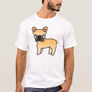 Fawn Cartoon French Bulldog T-Shirt