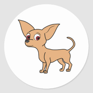 Fawn Chihuahua Round Sticker