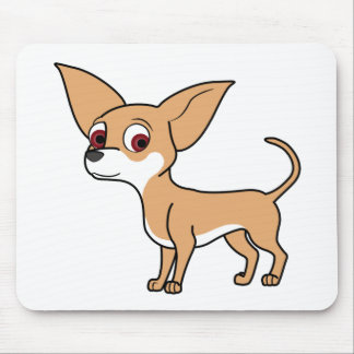 Fawn Chihuahua with White Markings Mouse Pad