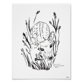 Fawn/Fawn limited edition print