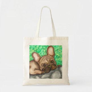 Fawn French Bulldog tote
