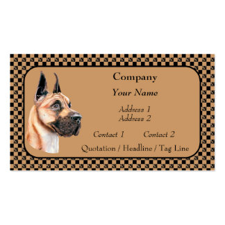 Fawn Great Dane Show Colors Business Cards
