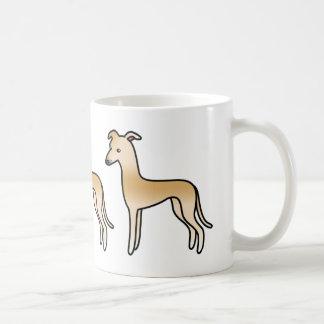 Fawn Greyhound / Whippet Basic White Mug