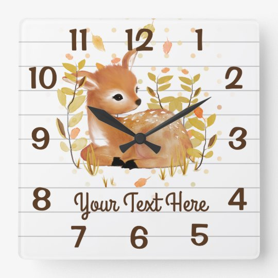 Fawn illustration Wall Clocks | Zazzle.co.uk