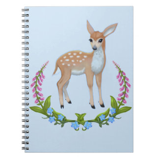 Fawn in Foxgloves Notebook