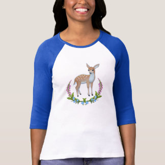 Fawn in Foxgloves T-Shirt