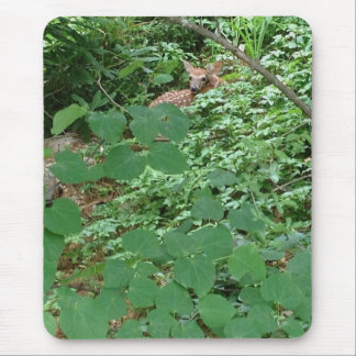 FAWN in Green Heart Leaves Mouse Pad