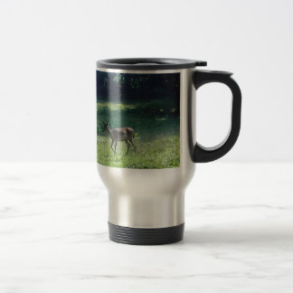 Fawn in the Meadow Stainless Steel Travel Mug