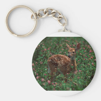 Fawn.jpg Basic Round Button Key Ring