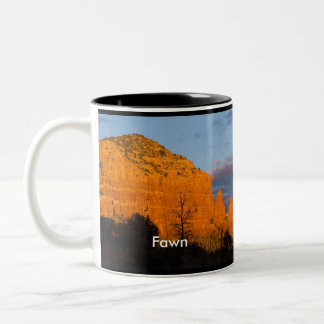 Fawn on Moonrise Glowing Red Rock Mug