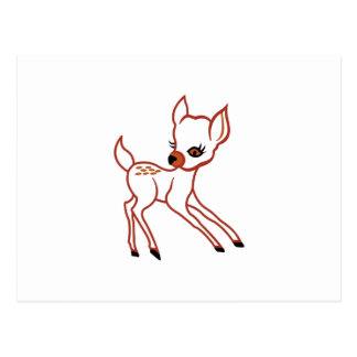 Fawn Outline Postcard