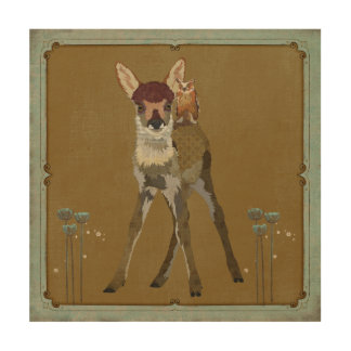 Fawn & Owl Wooden Canvas Wood Canvases