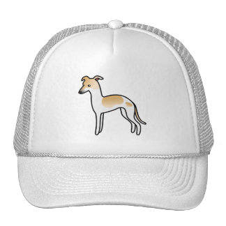 Fawn Pied Italian Greyhound Cap