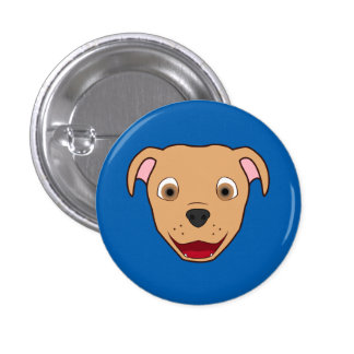 Fawn Pitbull Face 3 Cm Round Badge