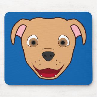 Fawn Pitbull Face Mouse Pad